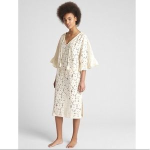 NWT Gap Dreamwell Eyelet Cover-up Nightgown Dress